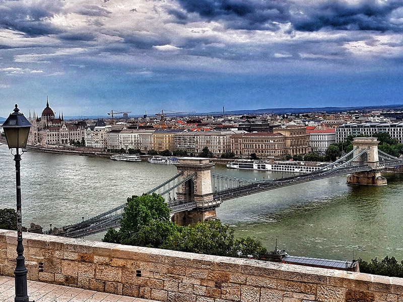 Budapest Chain Bridge Viking Docks